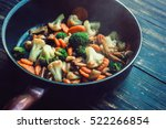Roasted Vegetables In A Frying...
