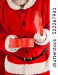 midsection of santa claus... | Shutterstock . vector #522267931