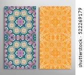 set of vertical seamless... | Shutterstock .eps vector #522269179