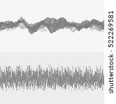 segmented vector audio waves.... | Shutterstock .eps vector #522269581