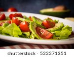 avocado salad with cherry... | Shutterstock . vector #522271351