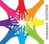 teamwork  community  social... | Shutterstock .eps vector #522273439