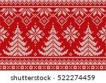 winter holiday seamless... | Shutterstock .eps vector #522274459