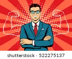 man with muscles currency...   Shutterstock .eps vector #522275137