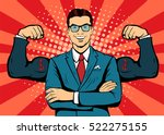 man with muscles currency... | Shutterstock .eps vector #522275155