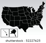vector map of the united states ... | Shutterstock .eps vector #52227625