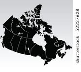 vector map of canada | Shutterstock .eps vector #52227628