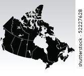 vector map of canada | Shutterstock .eps vector #52227628