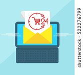 laptop with envelope and... | Shutterstock .eps vector #522276799