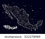 constellation. map of mexico | Shutterstock .eps vector #522278989