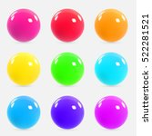 set of colorful realistic... | Shutterstock .eps vector #522281521