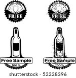 free drink rubber stamp | Shutterstock . vector #52228396