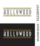 vector hollywood sign | Shutterstock .eps vector #522285937