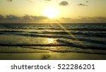 Golden Sunset Over The Blue Se...