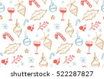 winter holidays seamless...   Shutterstock .eps vector #522287827