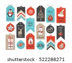abstract printable blue  red ... | Shutterstock .eps vector #522288271