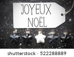 black balls  snowflakes  joyeux ... | Shutterstock . vector #522288889