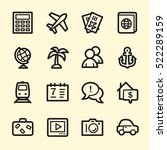 travel web icons.  vacation and ... | Shutterstock .eps vector #522289159