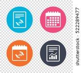 report document  calendar icons.... | Shutterstock . vector #522289477