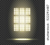 glowing spotlights. set of... | Shutterstock .eps vector #522291487