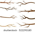 Vector Tree Branch Silhouettes...