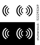vector sound wave icon set in... | Shutterstock .eps vector #522293269