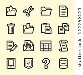 document web icons set | Shutterstock .eps vector #522293521