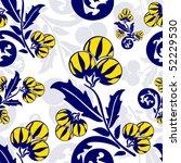 floral seamless pattern | Shutterstock .eps vector #52229530