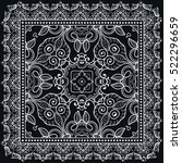 black and white decorative... | Shutterstock .eps vector #522296659