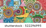 vector patchwork pattern.... | Shutterstock .eps vector #522296995