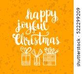 christmas card template. hand... | Shutterstock .eps vector #522299209