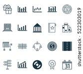 set of 20 universal editable... | Shutterstock .eps vector #522303019