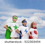 Superhero Boy Girl Brave Imagination - Fine Art prints
