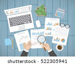 auditing concepts. businessman... | Shutterstock .eps vector #522305941