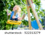 cute little girl having fun on... | Shutterstock . vector #522313279