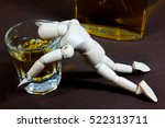 alcohol addiction  | Shutterstock . vector #522313711