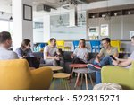 young people group in modern... | Shutterstock . vector #522315271