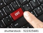 Stock photo edit word on red keyboard button 522325681