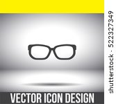 glasses vector icon. reading...