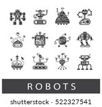 vector set of various types of... | Shutterstock .eps vector #522327541
