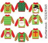 christmas sweater vector... | Shutterstock .eps vector #522329365