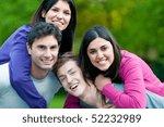 joyful young couples playing... | Shutterstock . vector #52232989