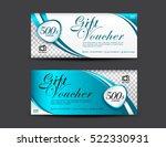 blue gift voucher template ... | Shutterstock .eps vector #522330931