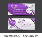 purple voucher template  coupon ... | Shutterstock .eps vector #522330949