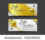 gold gift voucher template ... | Shutterstock .eps vector #522330961