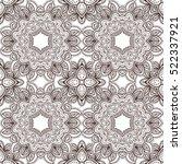 mehendi pattern vector... | Shutterstock .eps vector #522337921