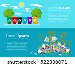 recycle garbage bins....   Shutterstock .eps vector #522338071