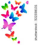 color butterflies isolated on a ... | Shutterstock .eps vector #522338131