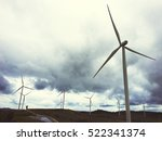 windmill turbine fuel and power ... | Shutterstock . vector #522341374