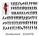hundred black female... | Shutterstock .eps vector #5223478